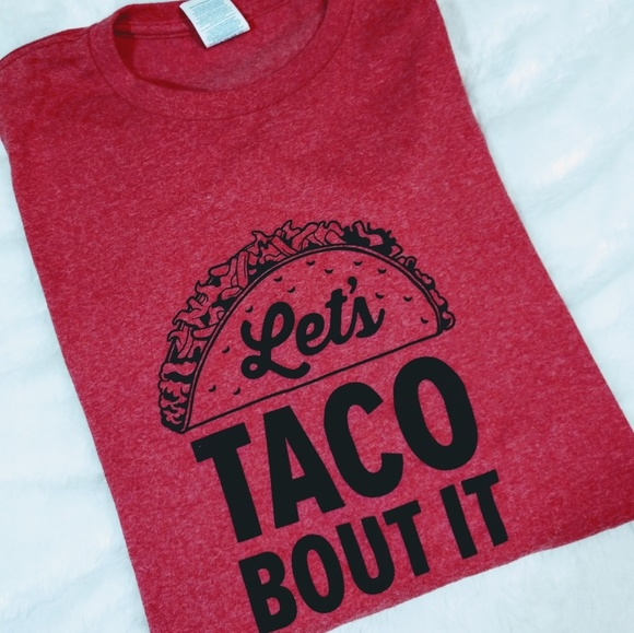 Boutique Other - Let's Taco Bout It Heathered Red S/S Tee